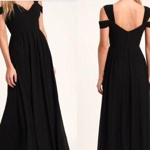 Lulus Make Me Move Black Maxi Dress